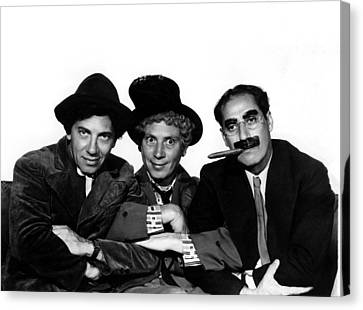 A Night At The Opera, Chico Marx, Harpo Canvas Print by Everett