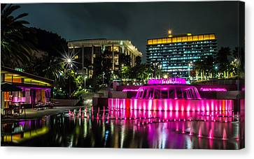 Canvas Print featuring the photograph A Night In Los Angeles by April Reppucci