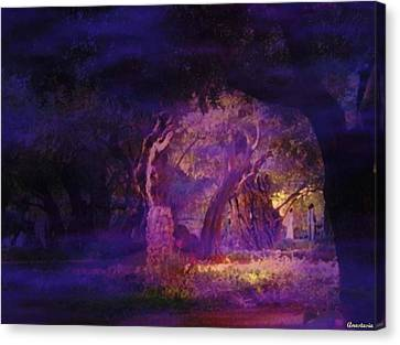 Canvas Print featuring the photograph A Night Of Weeping In The Garden Gethsemane Israel 2008 by Anastasia Savage Ealy