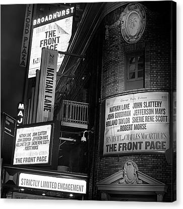 A Night On Broadway II Canvas Print by Mark Andrew Thomas