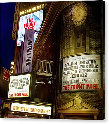 A Night On Broadway Canvas Print by Mark Andrew Thomas