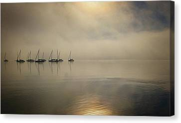 A Night On Lake Erie Canvas Print