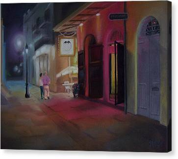 A Night On The Town Canvas Print by Marcus Moller