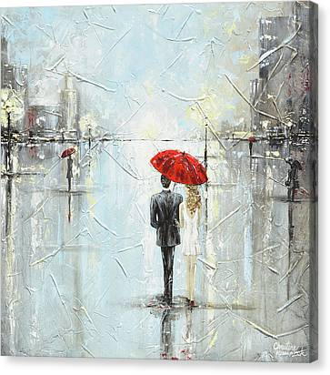 A Night Out On The Town Canvas Print by Christine Krainock