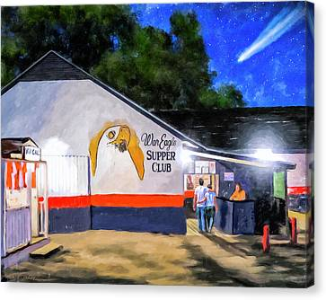 A Night To Remember In Auburn Canvas Print by Mark Tisdale