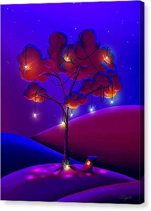 A Night Under The Stars Canvas Print by Cindy Thornton
