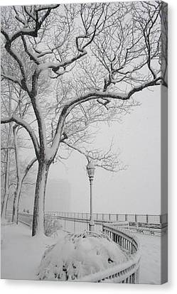 A Nor'easter In Brooklyn Canvas Print by Christopher Kirby