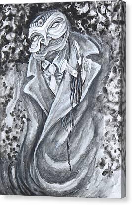 Black Tie Canvas Print - A Not So Simpatico Face  by Samuel RiosCuevas