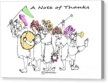 A Note Of Thanks Canvas Print by Marilyn Weisberg