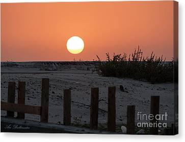 Sunrise Canvas Print - A November Sunset Scene by Arik Baltinester