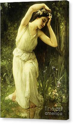A Nymph In The Forest Canvas Print by Charles Amable Lenoir