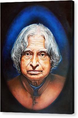 A. P. J. Abdul Kalam Portrait Canvas Print by Arun Sivaprasad