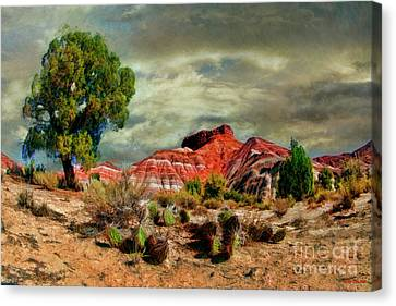 A Pahreah Ghost Town Scene Canvas Print by Blake Richards