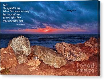 A Painted Sky For The Poet's Eye Canvas Print by Jim Fitzpatrick
