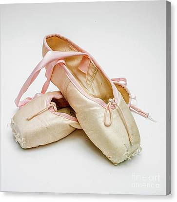 Ballet Dancers Canvas Print - A Pair Of Ballet Shoes by Bernard Jaubert