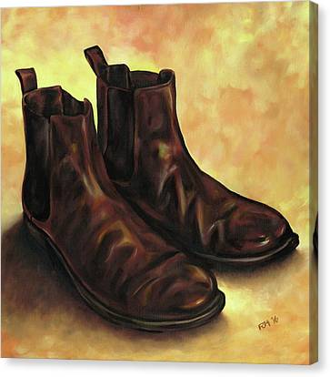 A Pair Of Chelsea Boots Canvas Print by Richard Mountford