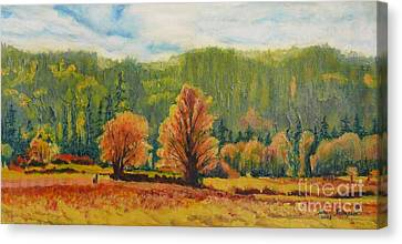 A Pair Of Golden Trees  Canvas Print