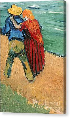 Dates Canvas Print - A Pair Of Lovers by Vincent Van Gogh