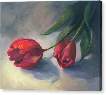 A Pair Of Tulips Canvas Print