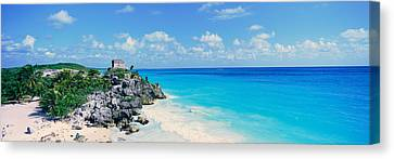 A Panoramic View Of The Templo Del Dios Canvas Print by Panoramic Images