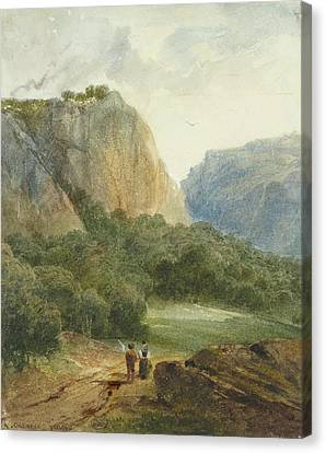 A Path Near Brnig In The Canton Canvas Print by MotionAge Designs