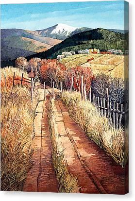 Pueblo Canvas Print - A Path Unknown by Donna Clair