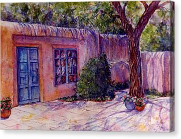 A Patio In Santa Fe Canvas Print