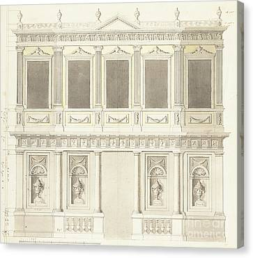 A Pavilion Elevation For The Sultana Hadige Palace At Defterdar Bournou Canvas Print