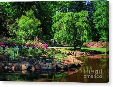 A Peaceful Feeling At The Azalea Pond Canvas Print