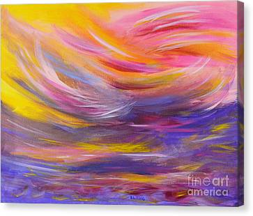 Business Beauties Canvas Print - A Peaceful Heart - Abstract Painting by Robyn King