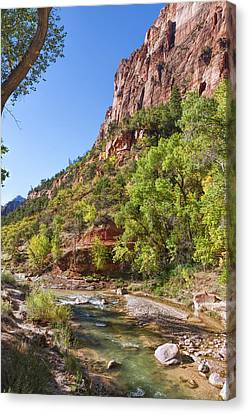 Canvas Print featuring the photograph A Peaceful Zion by John M Bailey