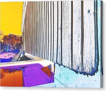 A Peek Beneath The Bridge - Abstract Canvas Print