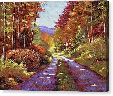 A Perfect Day In New Hampshire Canvas Print by David Lloyd Glover