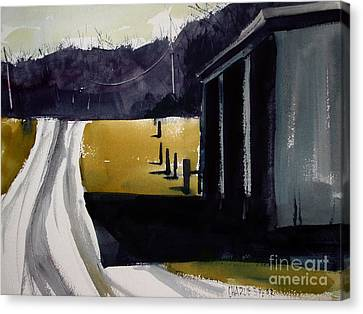 Canvas Print featuring the painting A Perfect Shadow by Charlie Spear