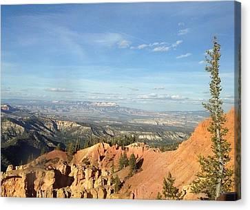 A Perfect Spot At Bryce Canyon Canvas Print
