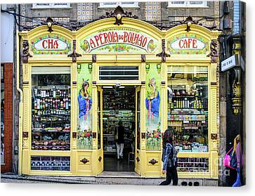 Grocery Store Canvas Print - A Perola Do Bolhao In Porto by RicardMN Photography