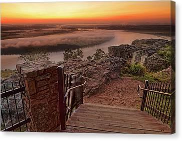 A Petit Jean Sunrise - Arkansas - Landscape Canvas Print by Jason Politte