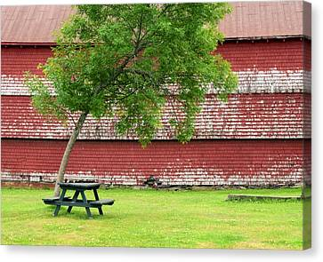 Maine Barns Canvas Print - A Picnic For You And Me by Corinne Rhode