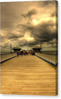 A Pier Canvas Print by Svetlana Sewell