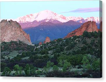 A Pikes Peak Sunrise Canvas Print