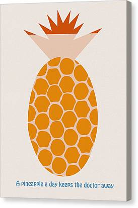 A Pineapple A Day Keeps The Doctor Away Canvas Print by Frank Tschakert