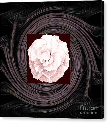 A Pink Rose And The Bigger Picture Canvas Print by Helena Tiainen