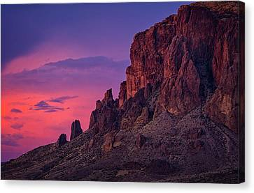 A Pink Supes Sunset  Canvas Print