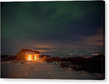Canvas Print featuring the photograph A Place For The Night, South Of Iceland by Dubi Roman