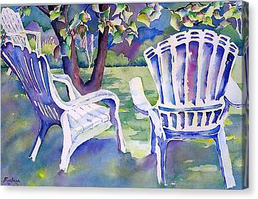 A Place In The Shade Canvas Print by Barbara Jung