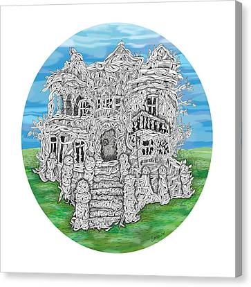 Canvas Print - House Of Secrets by Smokini Graphics
