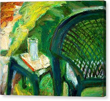 A Place To Write Canvas Print by Bob Dornberg