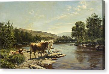 A Placid Morning On The Wye Canvas Print