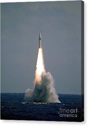 A Polaris A3 Fleet Ballistic Missile Canvas Print by Stocktrek Images