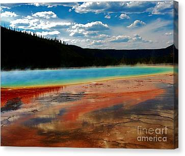 Canvas Print featuring the photograph A Pool Of Color by Robert Pearson